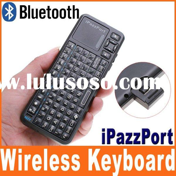 iPazzPort Mini Bluetooth Keyboard with Touchpad Qwerty Keyboard for Android TV Box, iPad, iPhone, Sm