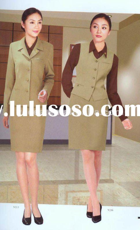 lady uniform skirt suit/suits/office uniform
