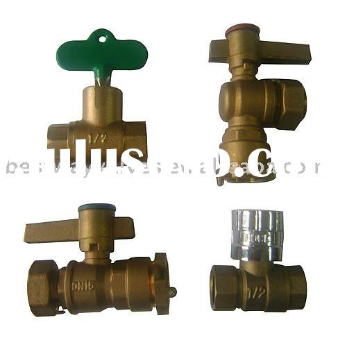 lockable water valve for water meter