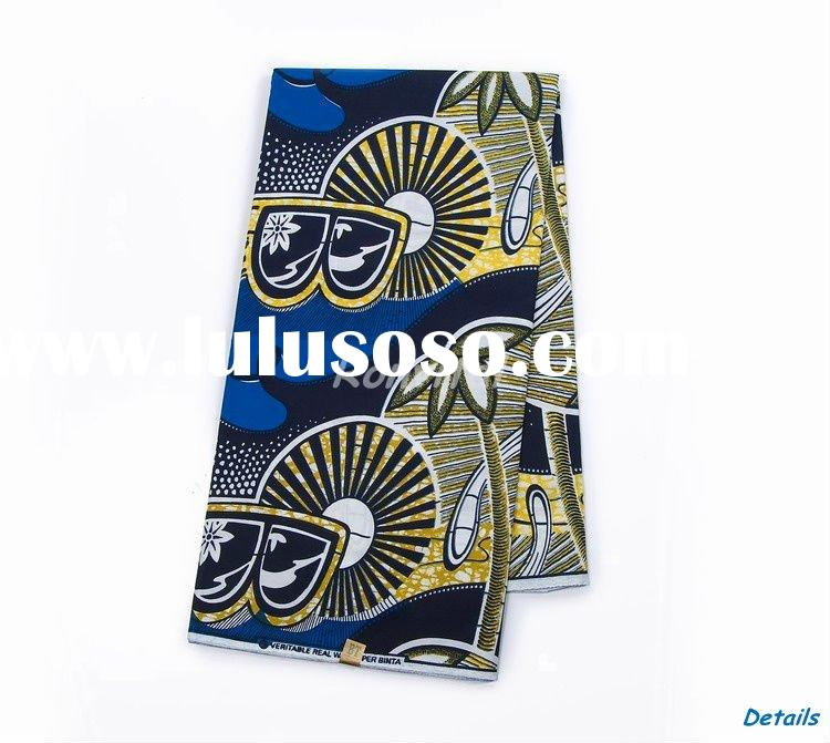 low price guaranteed wholesale fashion african veritable cotton sosso wax tropical print fabric 064p