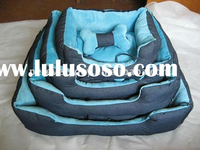 luxury cotton fabric pet beds dog beds