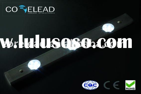 new fashion design aluminum optional IR sensor smd 5050 led under cabinet drawer down light CE and D