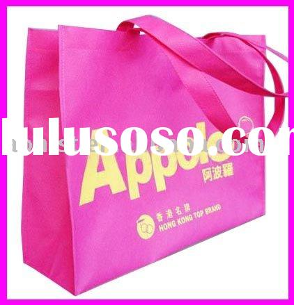 pink alphabet PP advertising bag non woven shopping bag