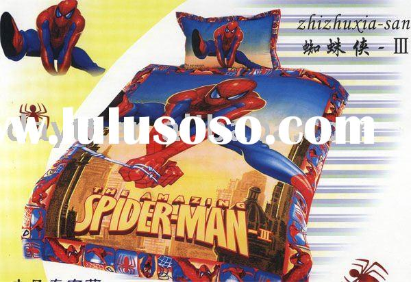power seller +100% Cotton Spiderman Single Bedding (3pcs)set for kid duvet cover A0304 on sale whole