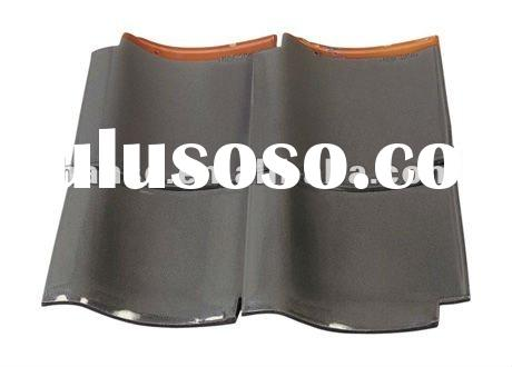 red flat clay roof tiles gray colour