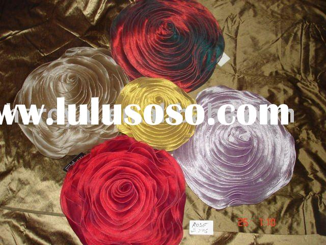 silk material for rose coushion for wedding and festival decorative