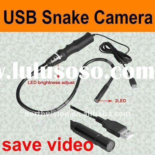 small camera USB inspection snake camera with LED, waterproof, handholder, video picture record
