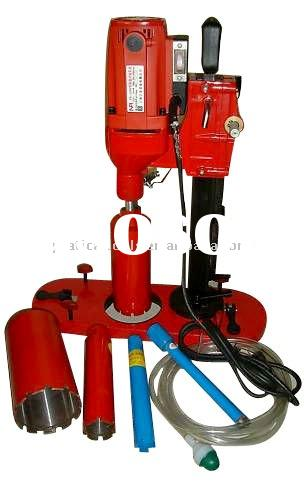 small concrete stone diamond core drilling machine with suction base