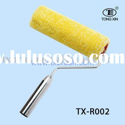 steel handle chrome plated handle paint roller brush