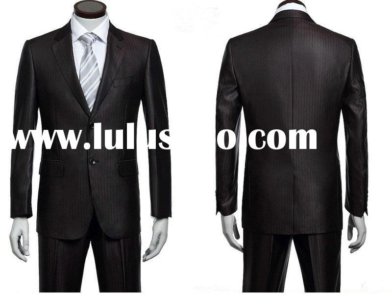 striped formal plus size suit for men