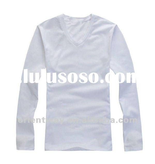 white cotton t shirts for men, long sleeve t shirt