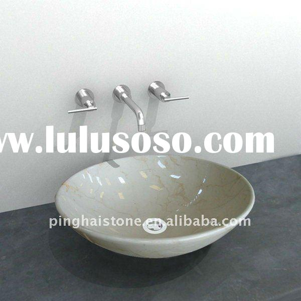 white marble stone sink artistic quality wash basin shelf