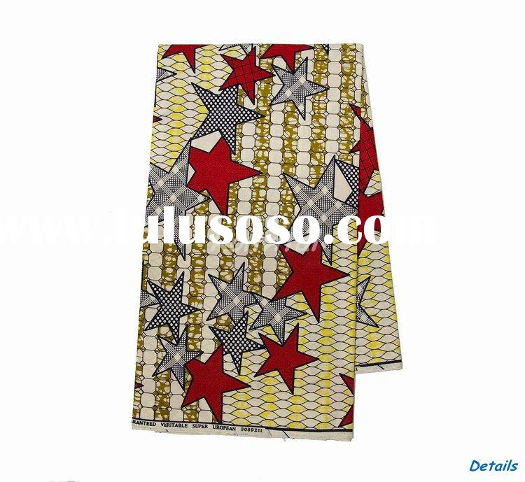 wholesale fashion veritable cotton wax vlisco print fabric 003V