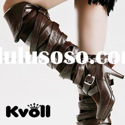 wholesale women fashion long geuine leather boot
