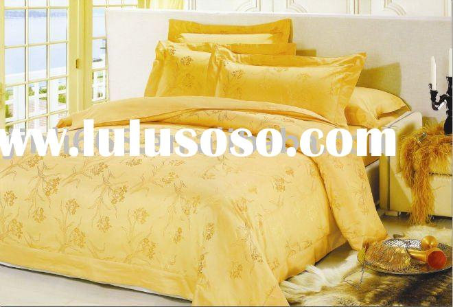 yellow king size mulberry silk bedding set