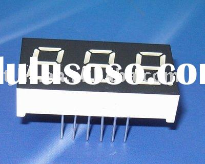 0.8 inch three digit 7 segment LED display
