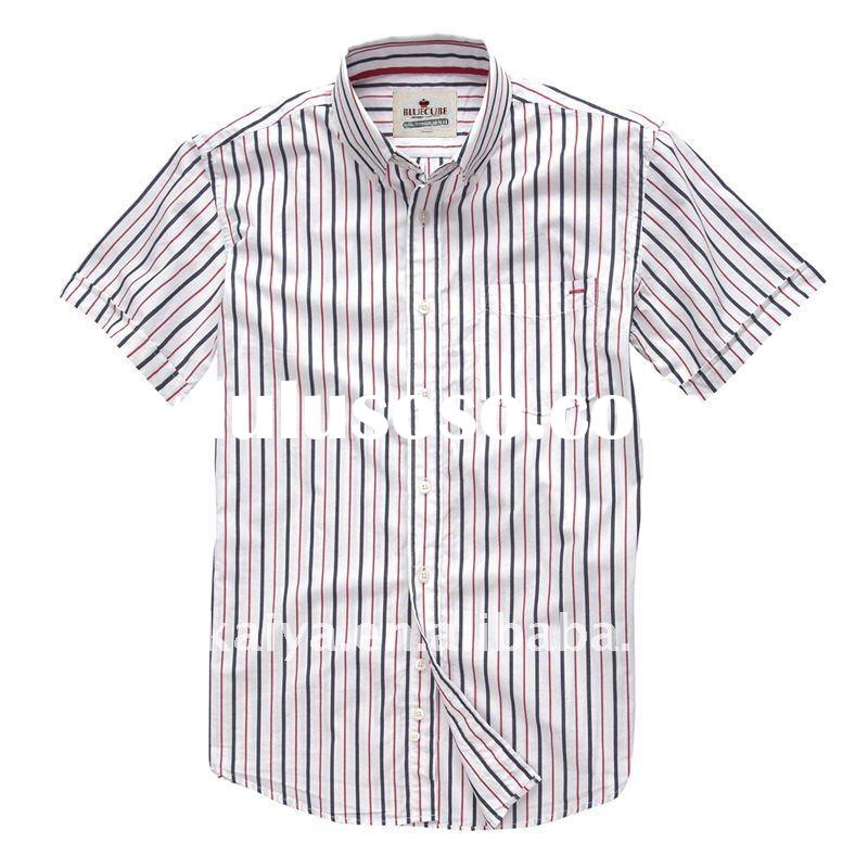 100% cotton black and white striped shirts for men, dresses new fashion 2011