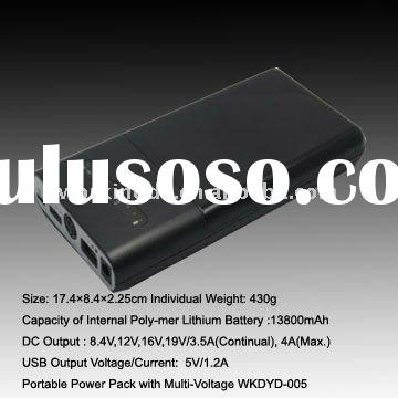 13800mAh portable USB battery charger with multi voltage output for digital products