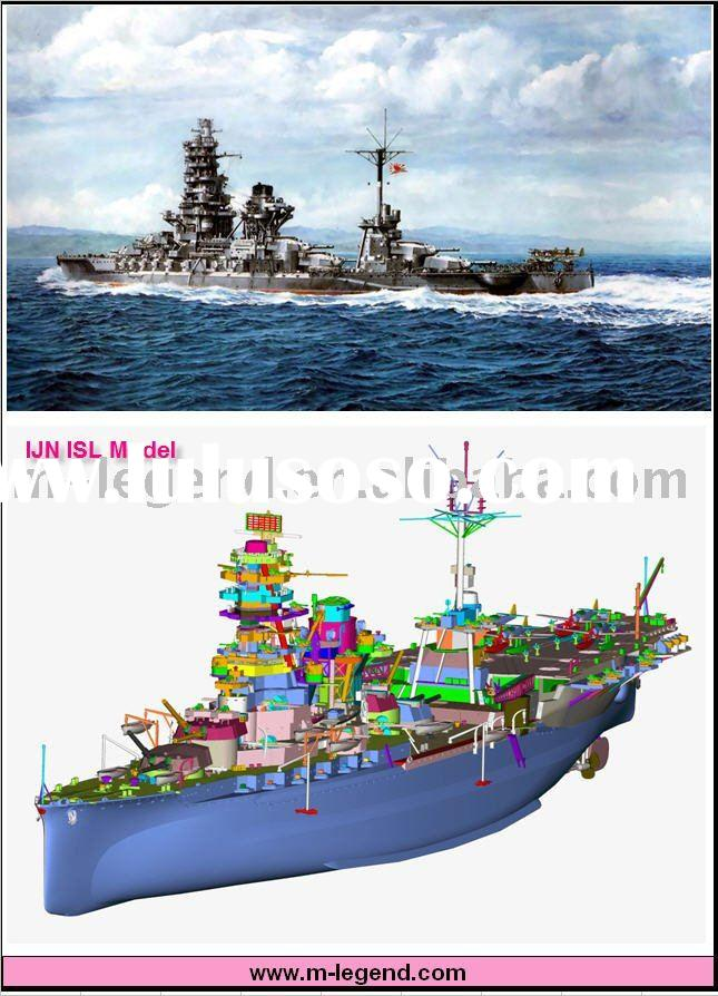 1/350 Scale plastic static model battleship IJN Ise