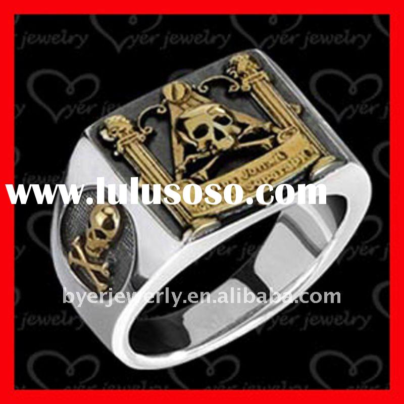 2011 Fashion design of stainless steel skull rings for men