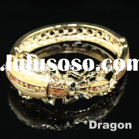 2011 fashion crystal jewelry zinc alloy bangle