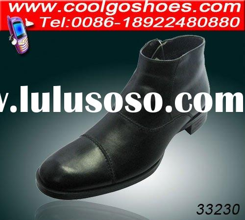 2012 fashionable handmade mens leather boots with durable and high quality material