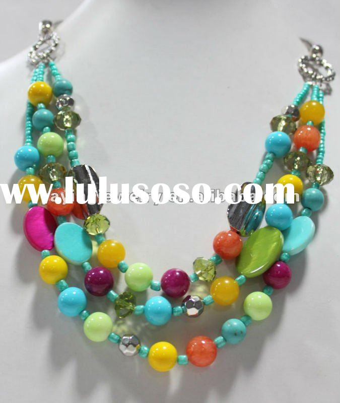 2012 last products in market fashion beads necklace jewelry wholesale