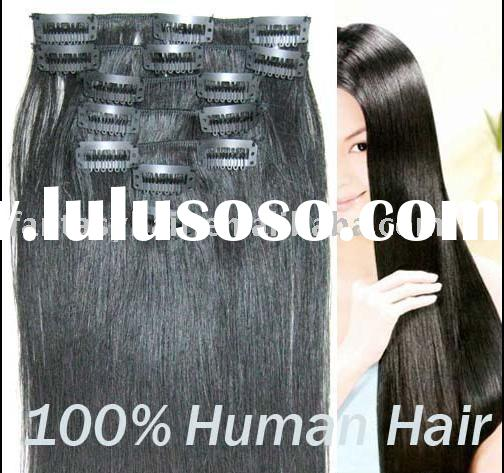 26 Inch Human Hair Extensions Clip In Chinese Remi