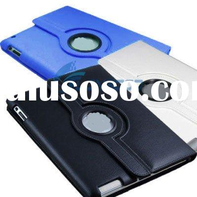 360 degree Rotating Magnetic Smart Leather pu case For iPad 2