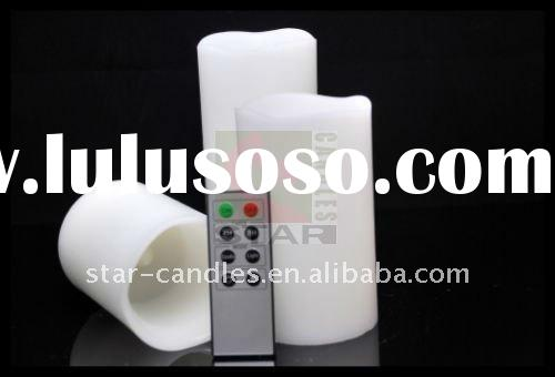 "3""*4"",3""*5"",3""*6"" of set of Dura remote control flameless LED candle"
