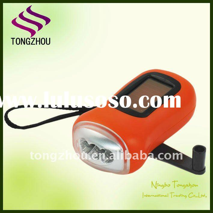 3 LED Dynamo Solar led flashlight