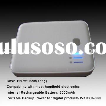 5000mAh Dual USB portable battery charger pack for iPhone 4 and iPad