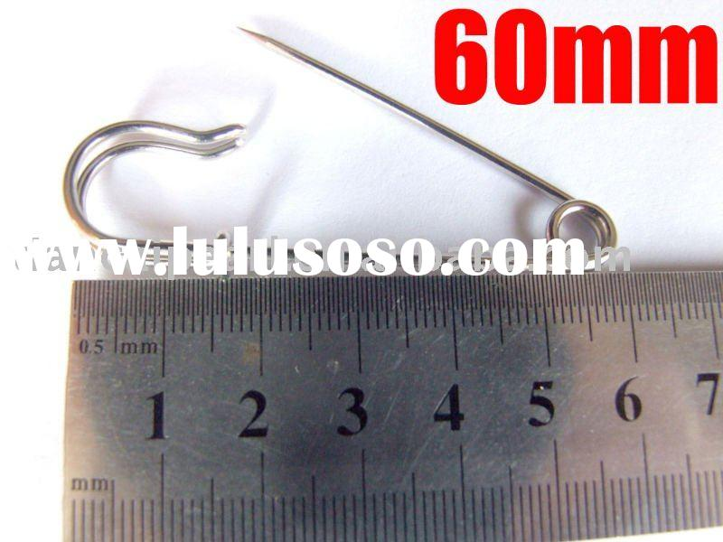 60mm Brooch Base Pins Bar Brooch pins Safety pins