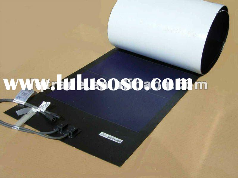 68W Thin Film Flexible solar panel durable polymer laminated with adhesive film for peel and stick i