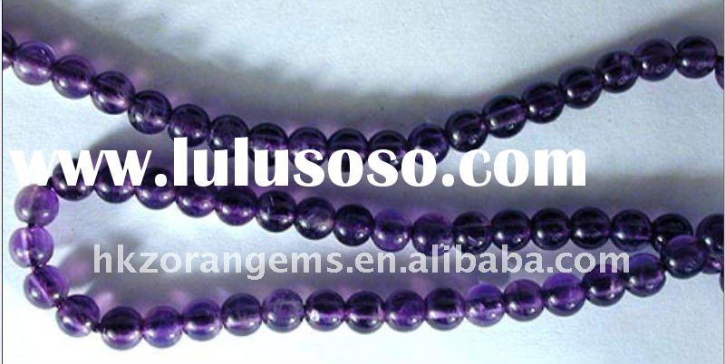 6mm round amethyst natural gemstone loose beads