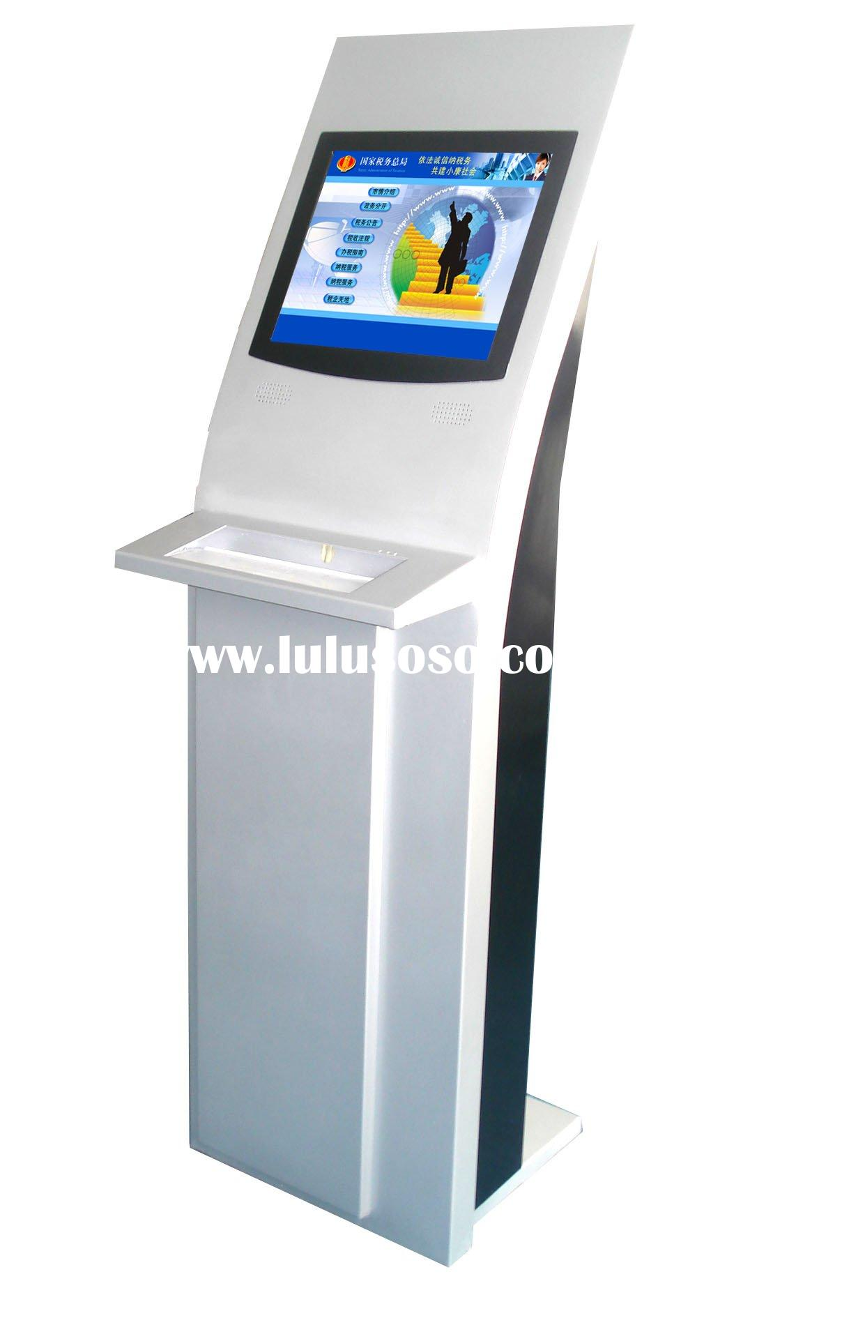 ATM kiosk with webcam/ bluetooth/ 3G/ Cash receiver/ Fiscal register/ Queuing system