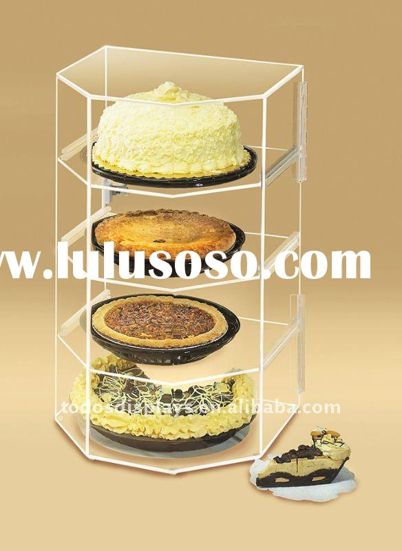 Acrylic Cake and Pie Bakery Display Case with Hexagonal Front