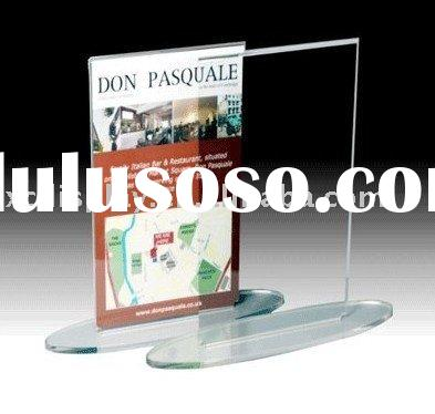 Acrylic Oval Base Poster Holder
