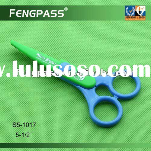 Arts and craft plastic safety scissors