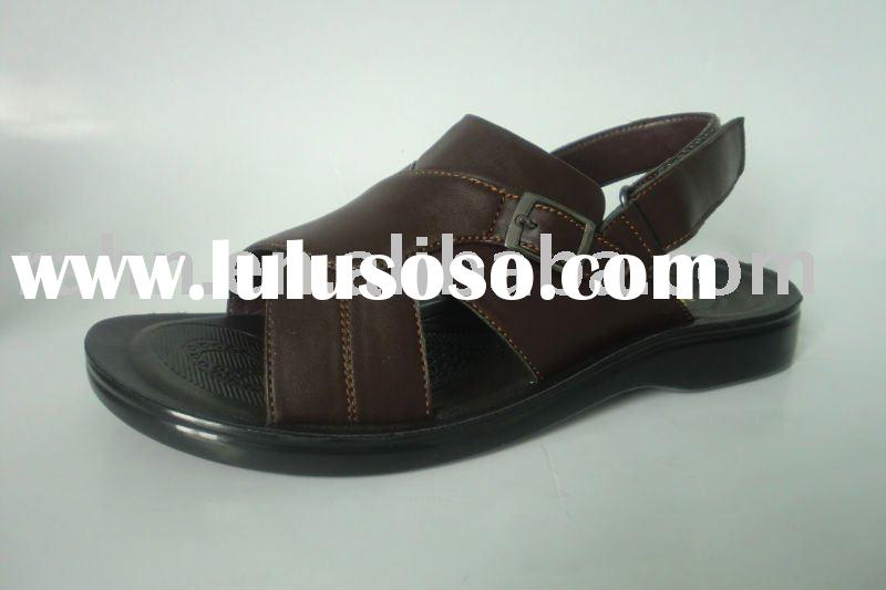 Brown sandal with pu sole