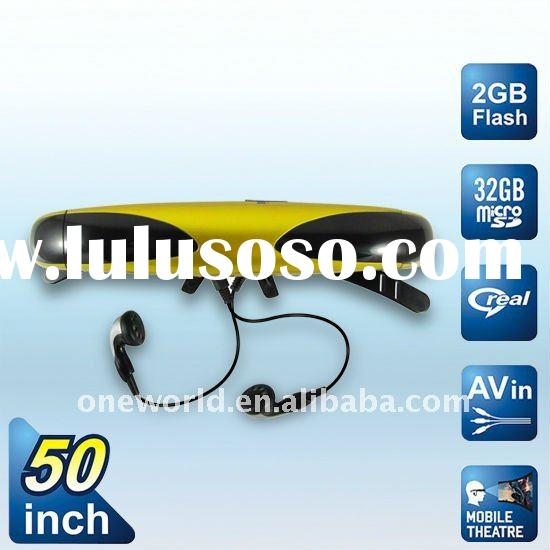 Built-in 2GB with USB interface and AV connection MP4 Digital Video Glasses