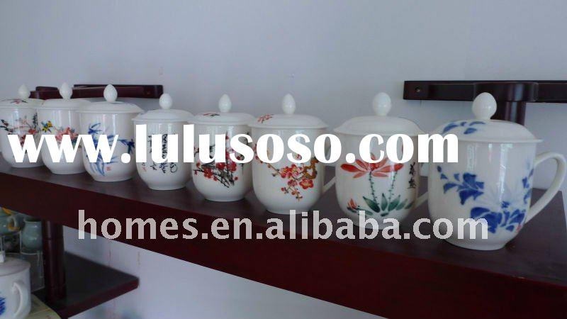 Chinese Style Porcelain Tea Cups With Handle