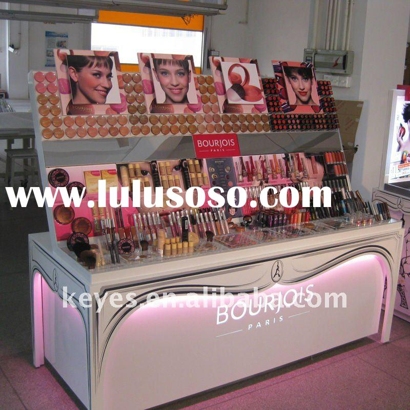 Cosmetic Wood Acrylic Counter Display Stand