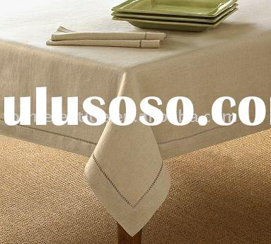 Cotton table cloth and napkin with hemstitch