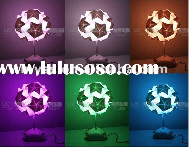 DIY Creative origami Lamp color changing LED origami desk light