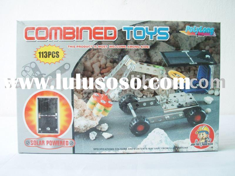 DIY Mobile Machinery Shop Car Toy Child Metal Building Block Toys/Self-assembling Game Toy/