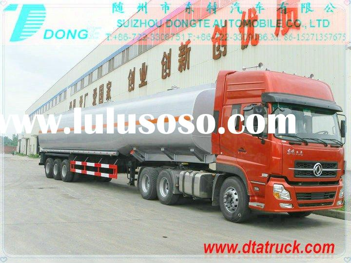 DTA 2/3/4axles tank semi trailer stainless steel Tank Semi Trailer manufacturer for different liquid