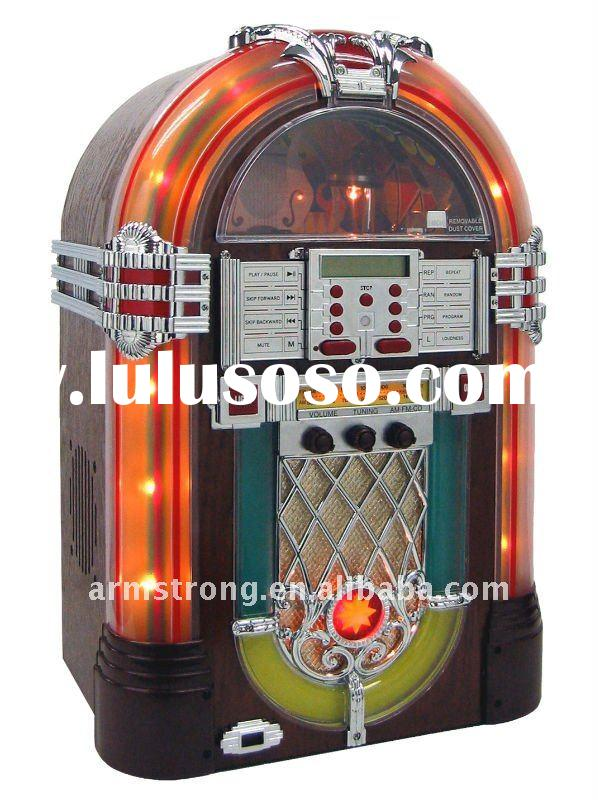 Desktop CD Jukebox with AM/FM radio, Aux in, MP3