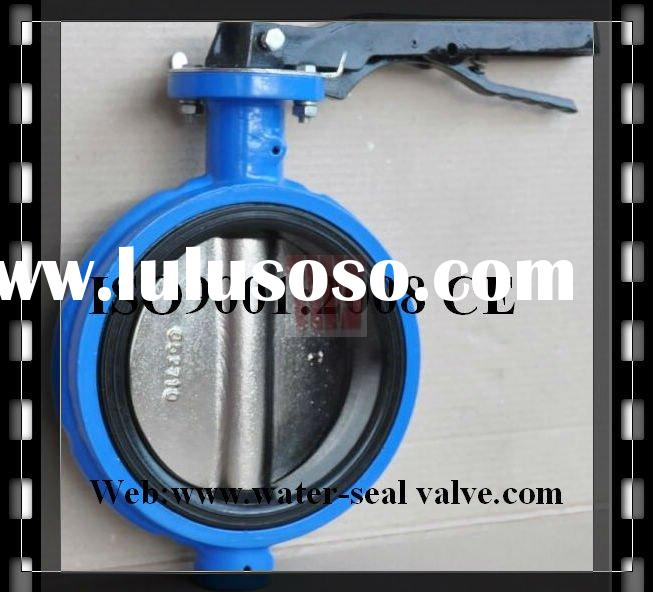 Ductile iron wafer type manual butterfly valve without flange