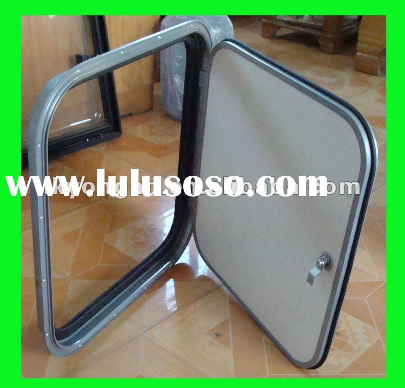 Durable and Refined Aluminum Frame Materials RV Luggage Handle Door